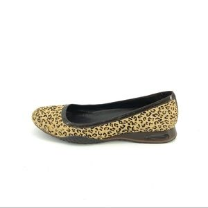 Cole Haan Leopard Flats 9 Calf Hair Leather Shoes